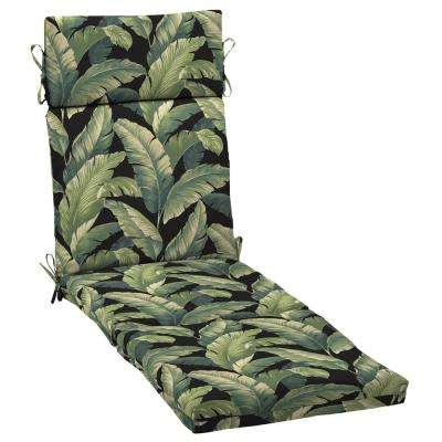 21 in. x 42.5 in. Onyx Cebu Outdoor Chaise Lounge Cushion