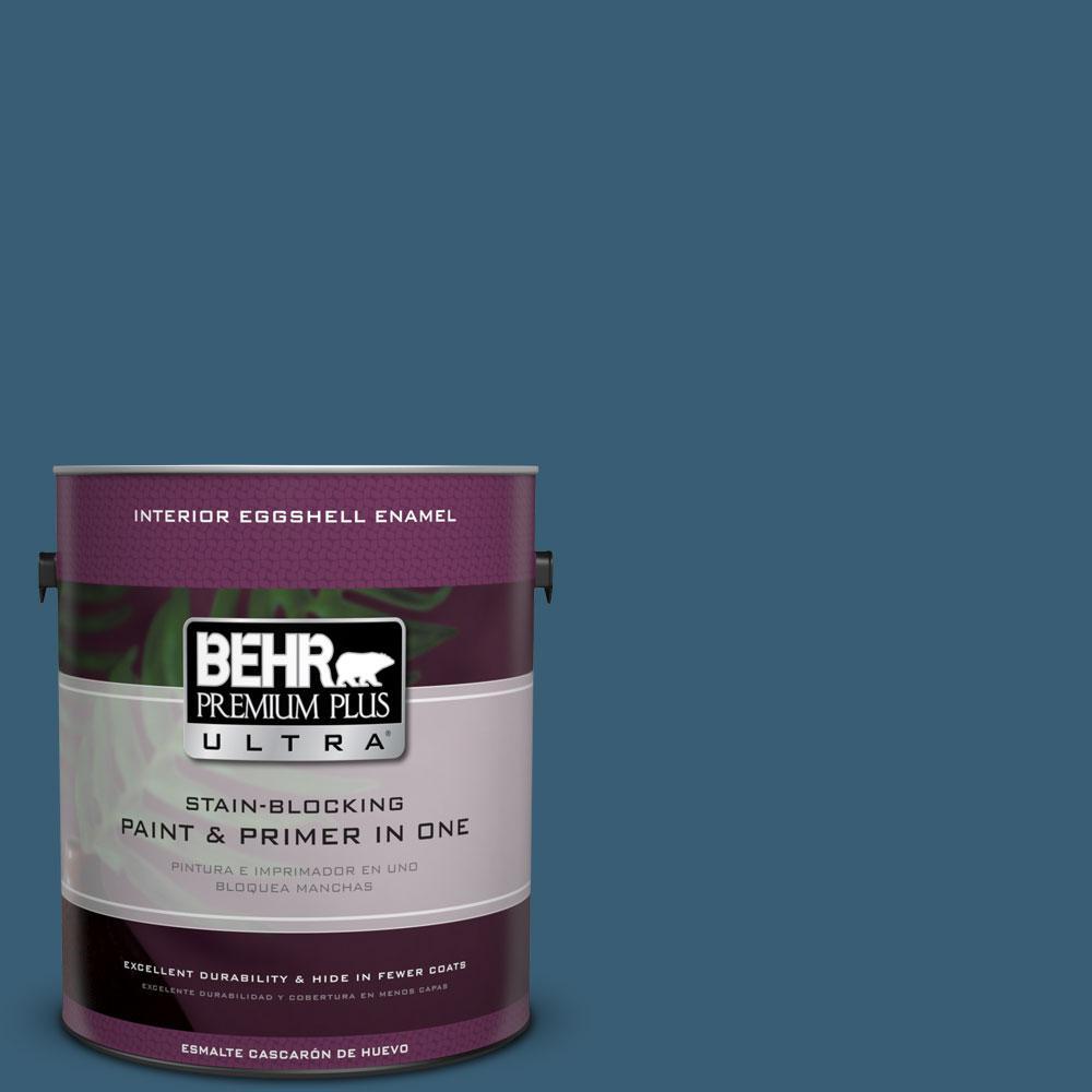 BEHR Premium Plus Ultra 1 gal S490 7 Superior Blue Eggshell Enamel
