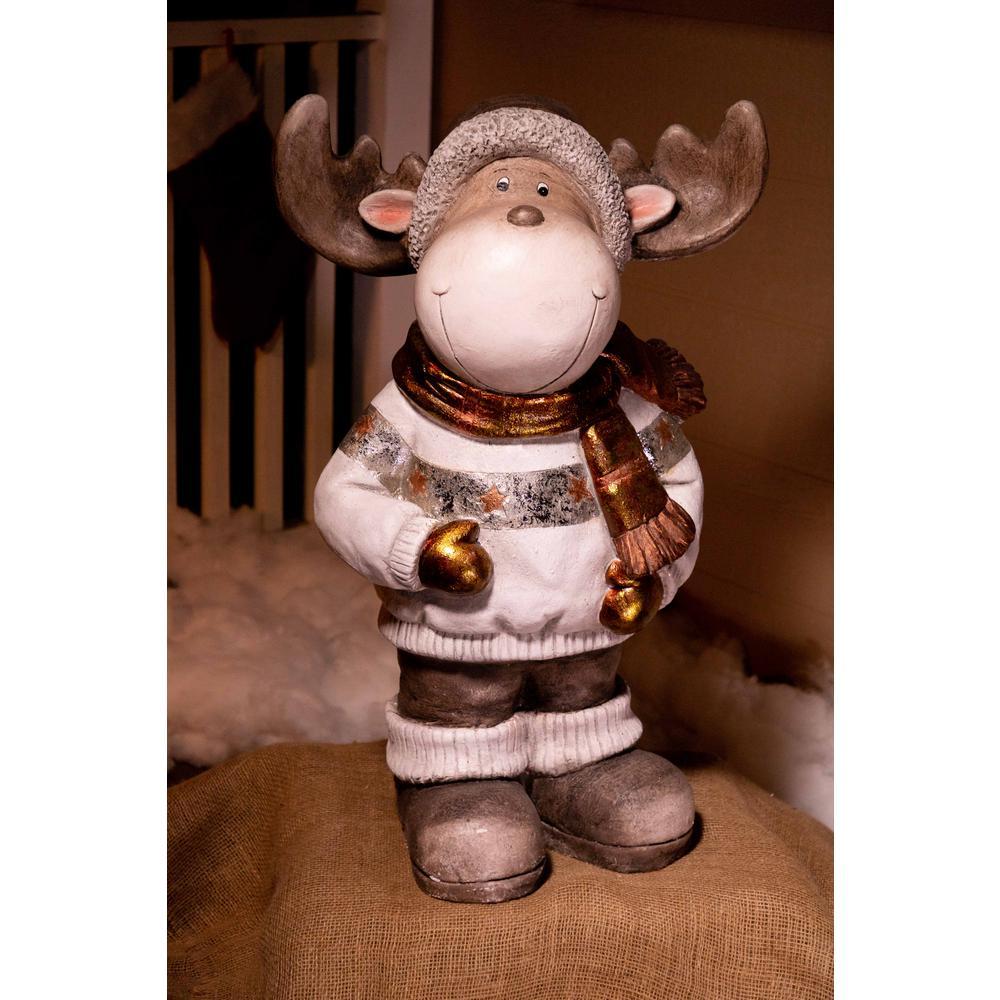32 in. Christmas Reindeer Statuary