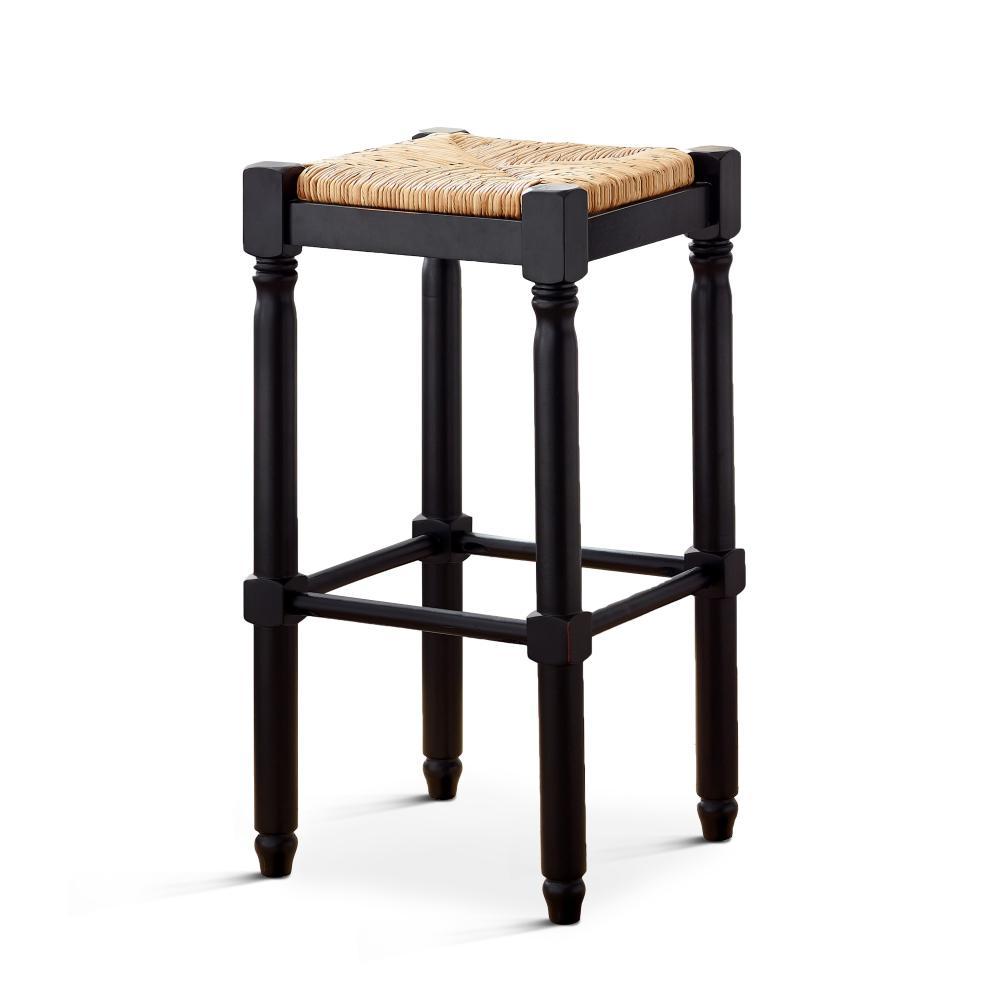 American Woodcrafters Poppy 29 in. Black Backless Bar Stool B2-152-29W