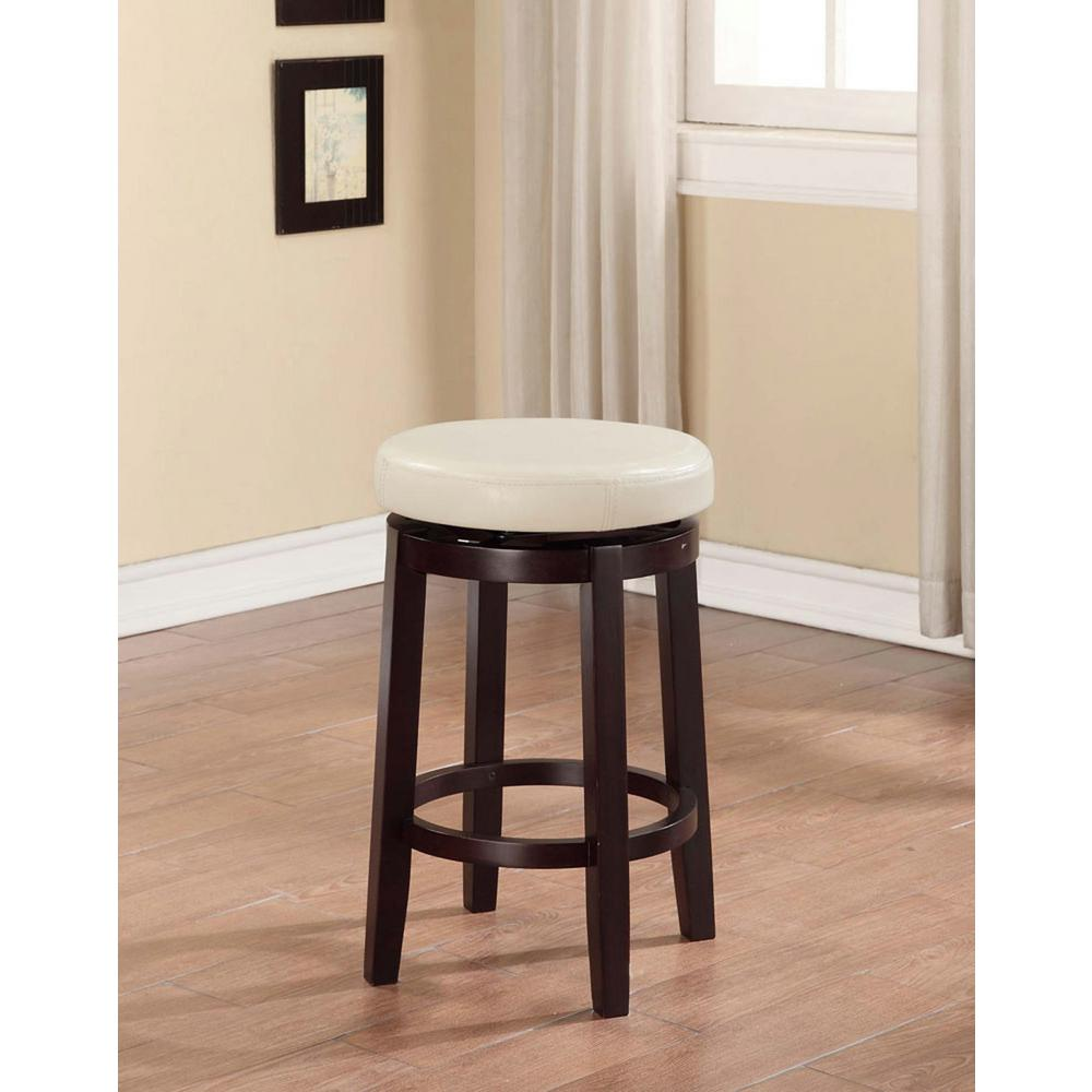 Linon Home Decor Maya 24 In Brown Cushioned Bar Stool