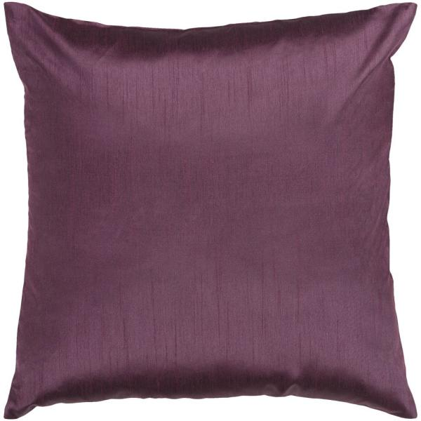 Visoko Plum Solid Polyester 18 in. x 18 in. Throw Pillow