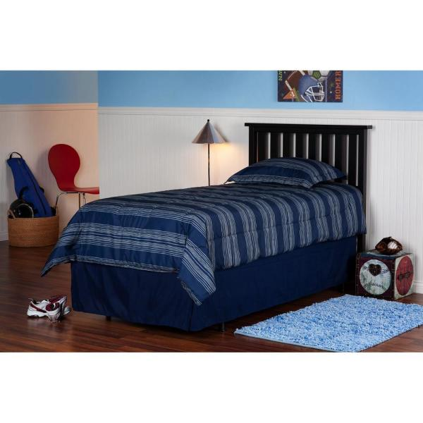 Fashion Bed Group Belmont Black Queen Wooden Headboard Panel With