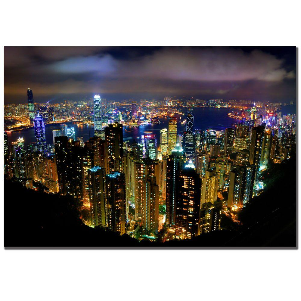 Trademark Fine Art 16 in. x 24 in. Hong Kong Canvas Art-DISCONTINUED