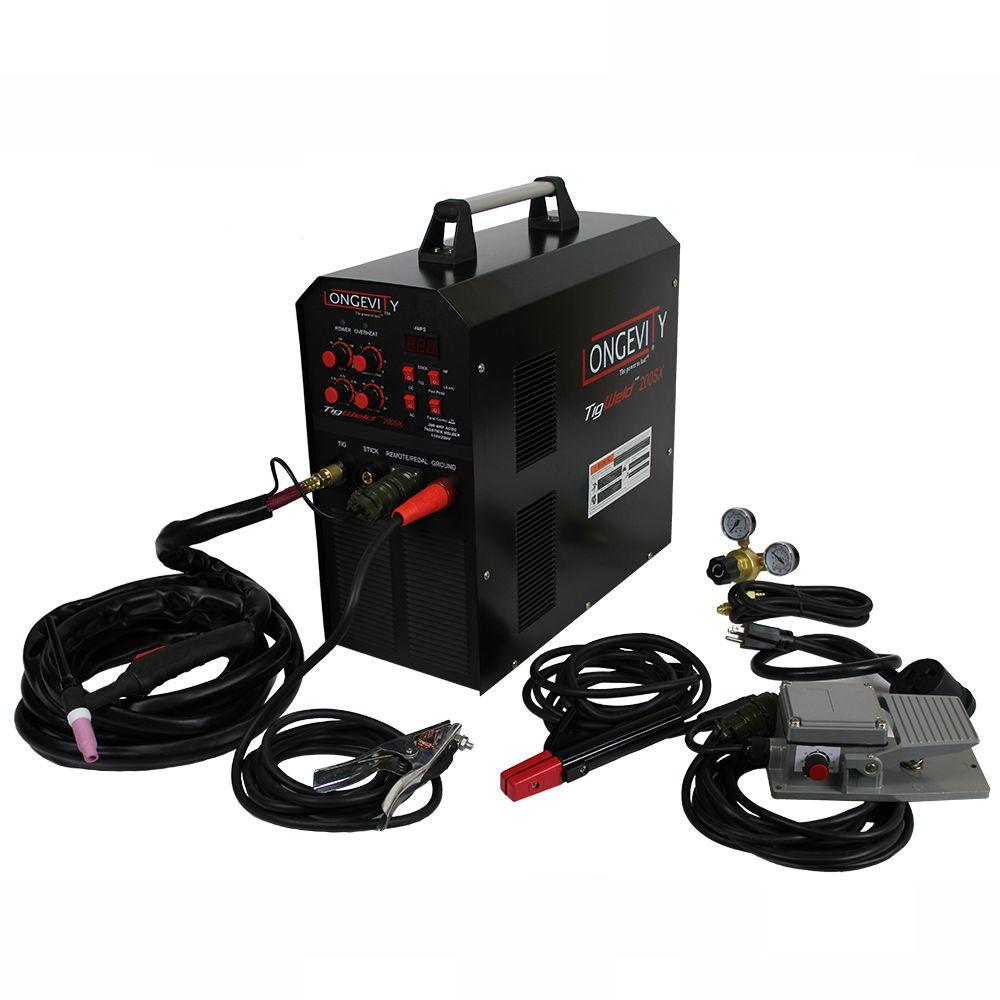 Longevity tigweld 200sx 200 amp tig welder with dual voltage longevity tigweld 200sx 200 amp tig welder with dual voltage technology 444510 the home depot publicscrutiny Gallery