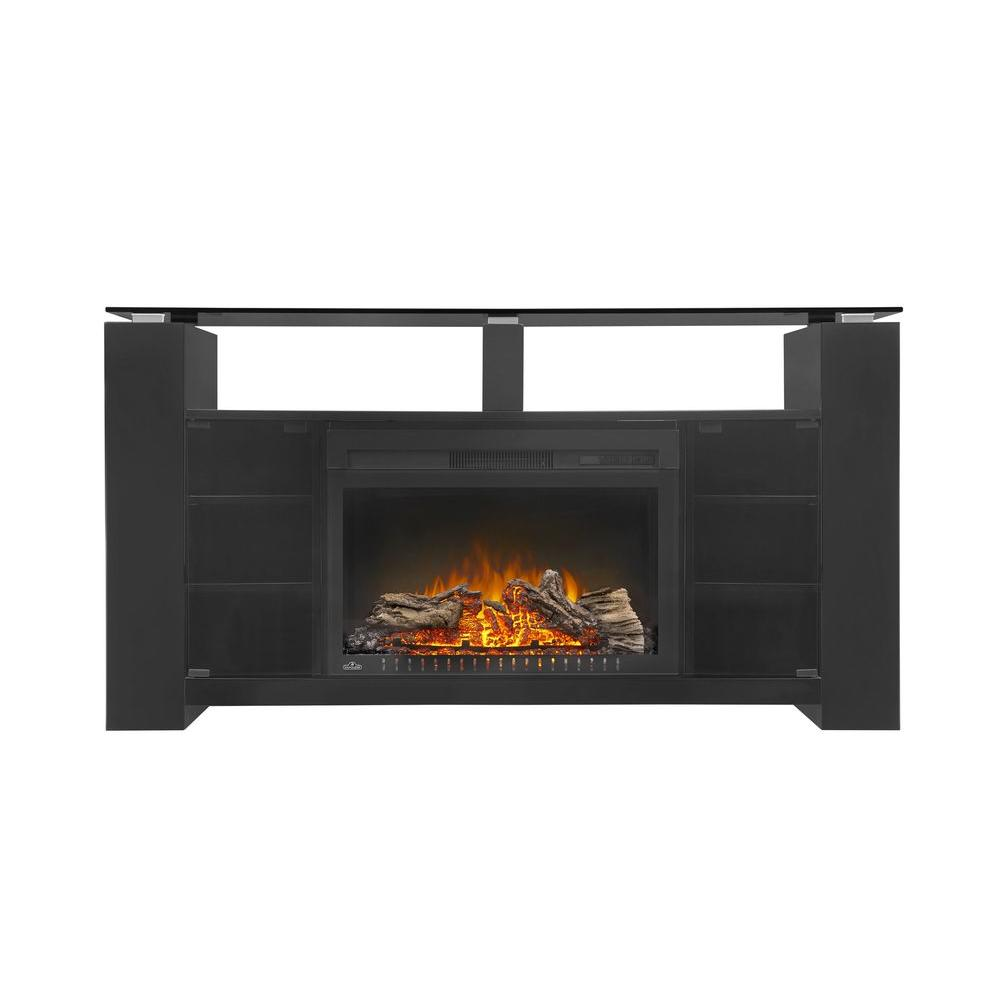Napoleon Foley 60 In X 32 In Tv Stand With 27 In Electric Firebox