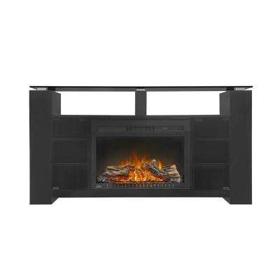 Foley 60 in. x 32 in. TV Stand with 27 in. Electric Firebox