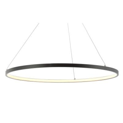 Brice 34-Watt Matte Black Integrated LED Chandelier