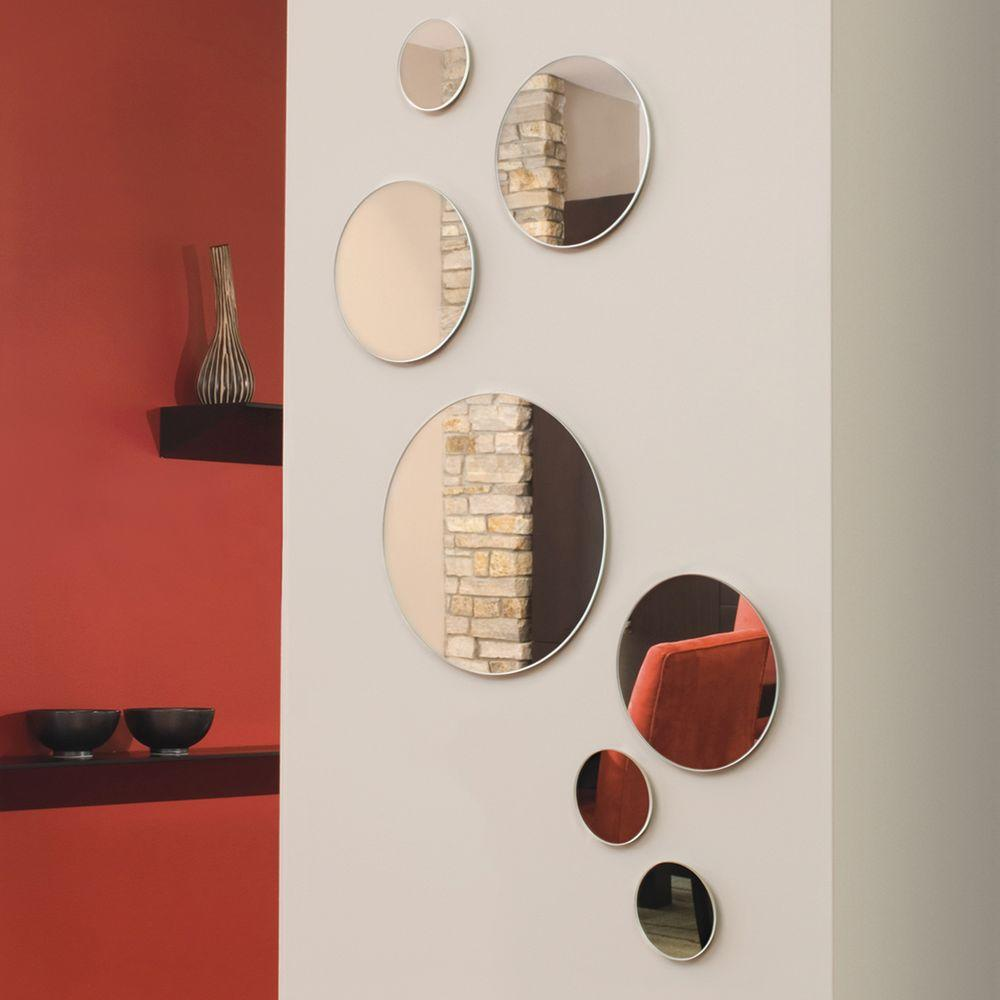 red wall mirrors choice image