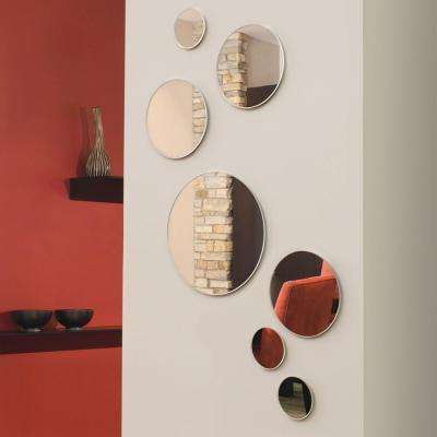 nexxt Zoe 9 in. x 9 in. Round Wall Mirror in 3 Assorted Sizes (Set of 7)