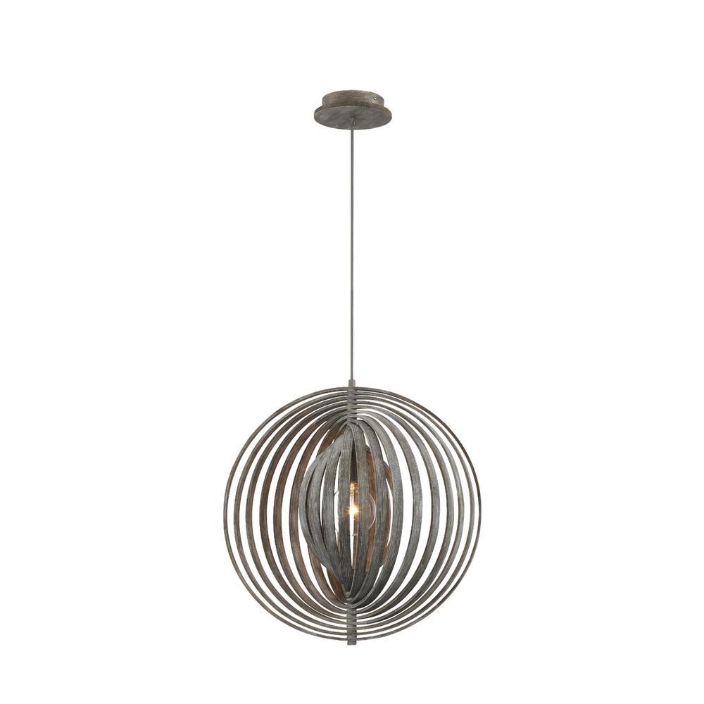 Abruzzo 1-Light Weathered Grey Pendant