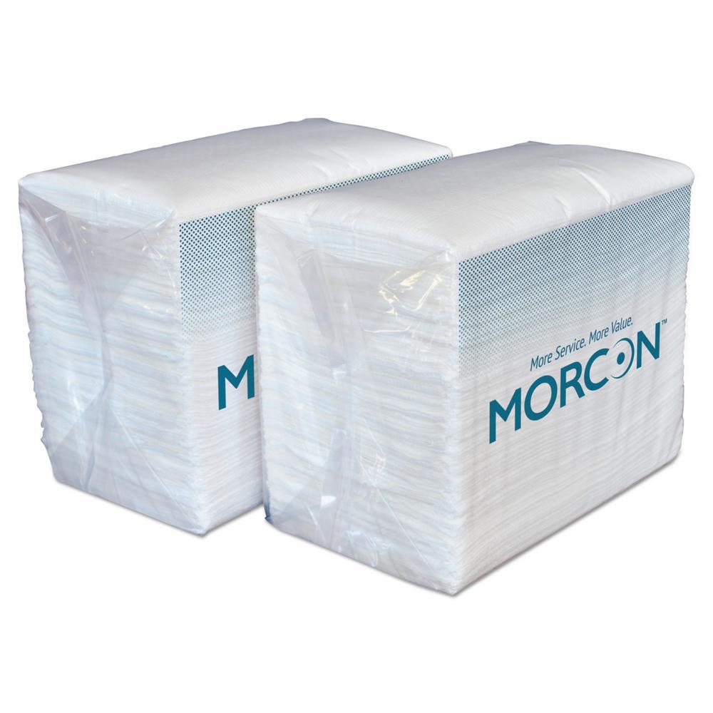 Morsoft Dinner Napkins, 2-Ply, 14.5 in. x 16.5 in., White, 3,000/Carton