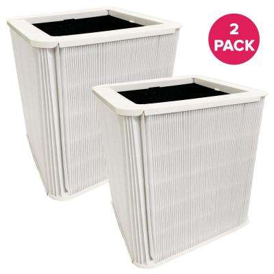 Replacement Blueair 211 Plus Air Purifier Filters with Built-In Carbon Filters, Foldable (2-Pack)