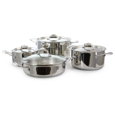 8-Piece Stainless Steel Cookware Set