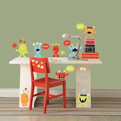 Multi-Color Little Monsters Glow In The Dark Wall Decals