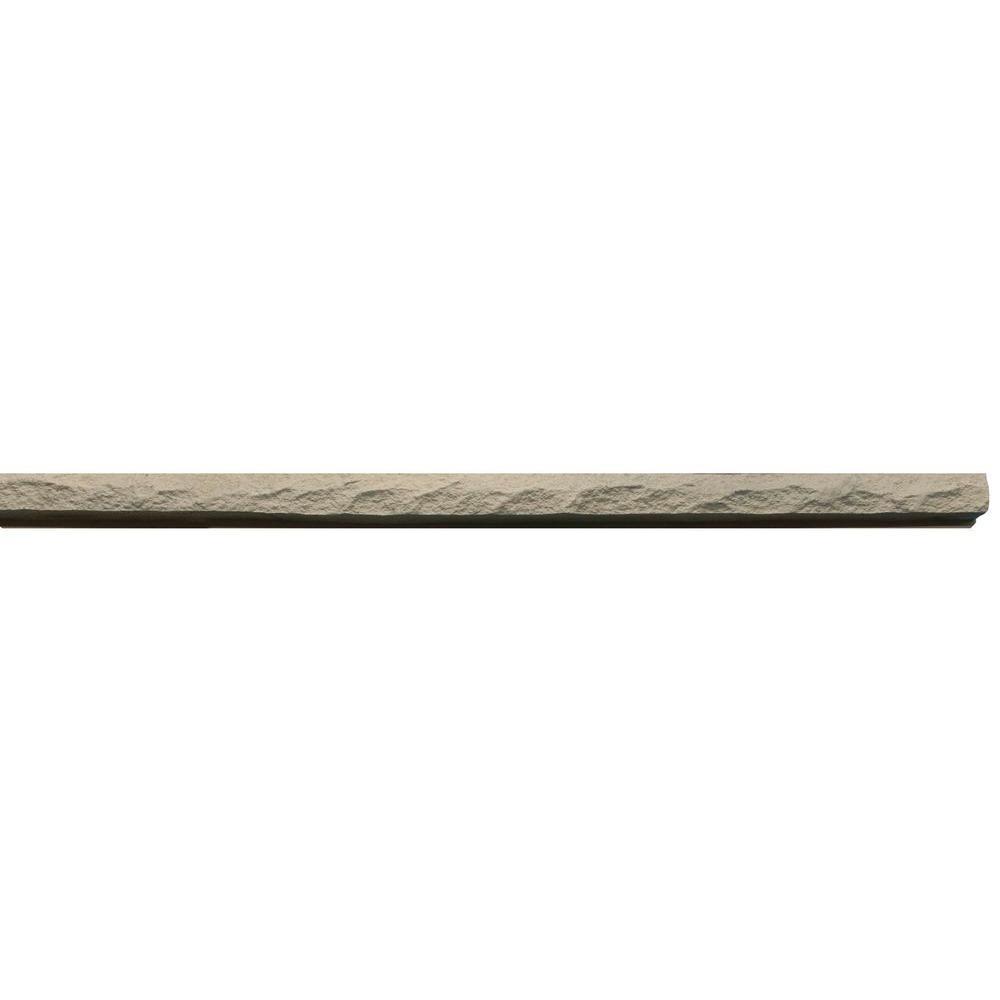 Urestone Rockface Trim #03 Khaki 1 in. x 48 in. Stone (4-Pack)