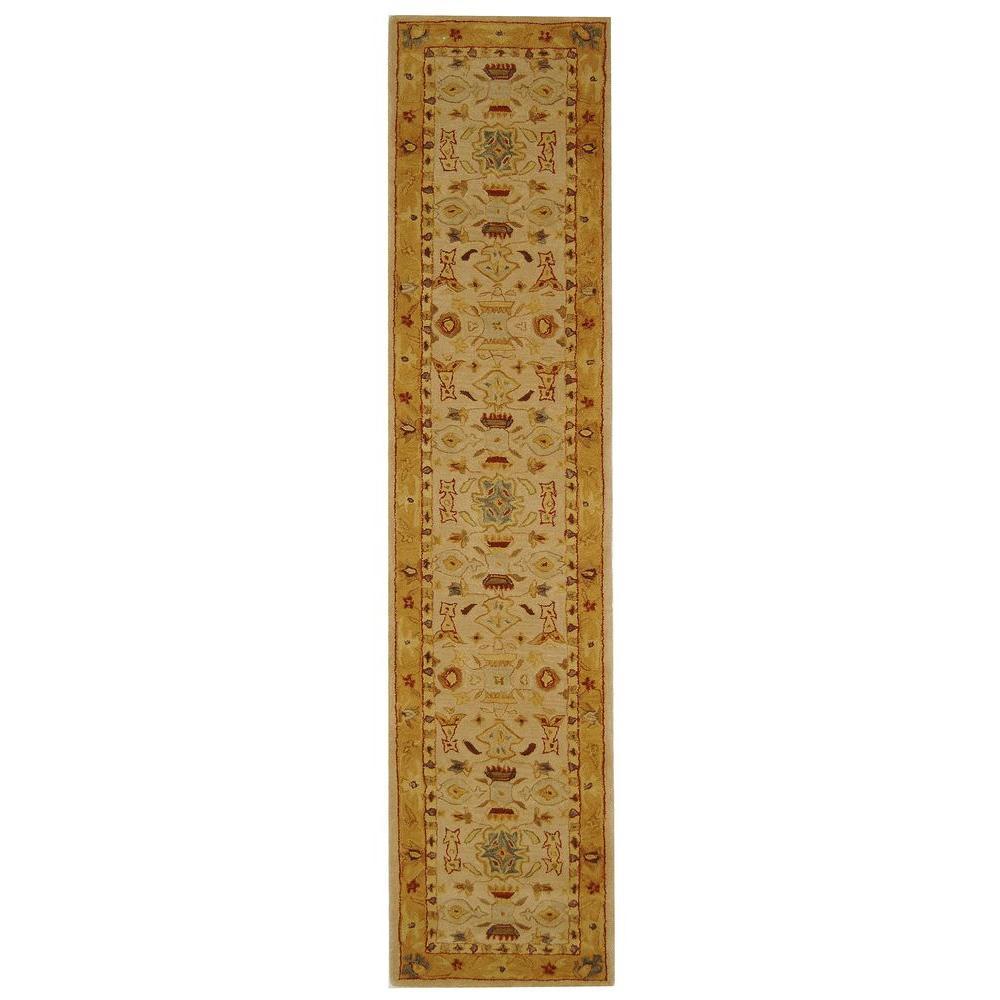 Anatolia Ivory/Gold 2 ft. 3 in. x 20 ft. Runner