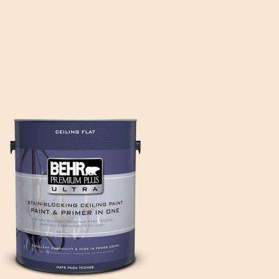 1 gal. No.UL140-12 Ceiling Tinted to Cafe Cream Flat Interior Paint and Primer in One