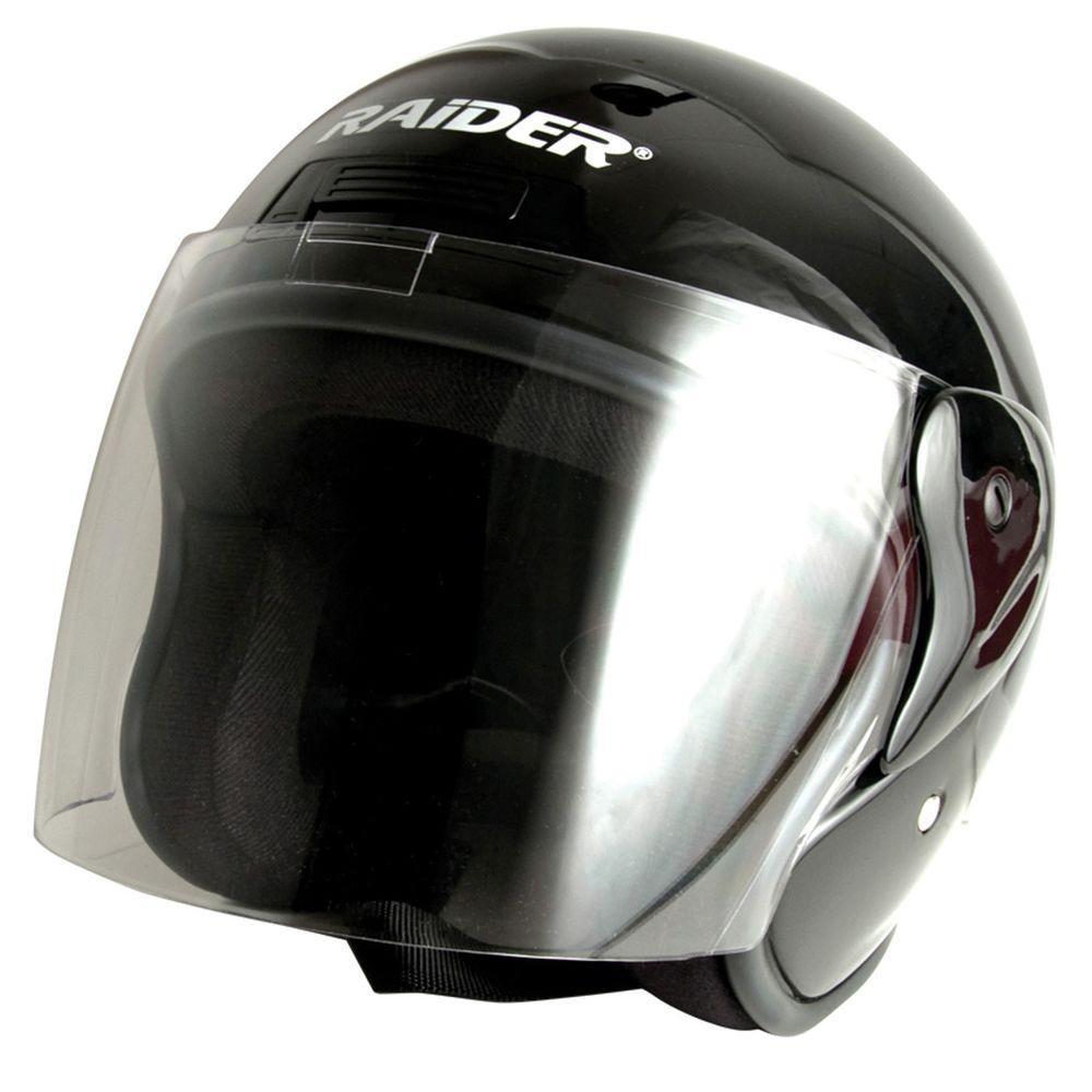 Medium Adult Black Flip Shield Helmet