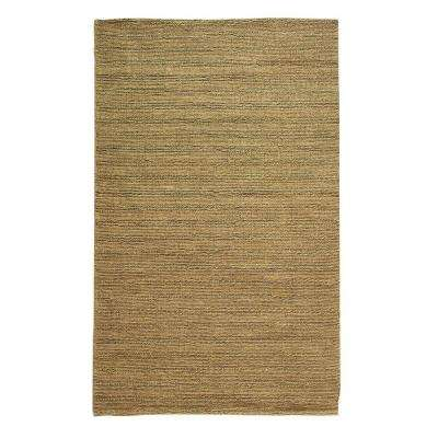 Banded Jute Dark Natural 7 Ft X 9 Area Rug