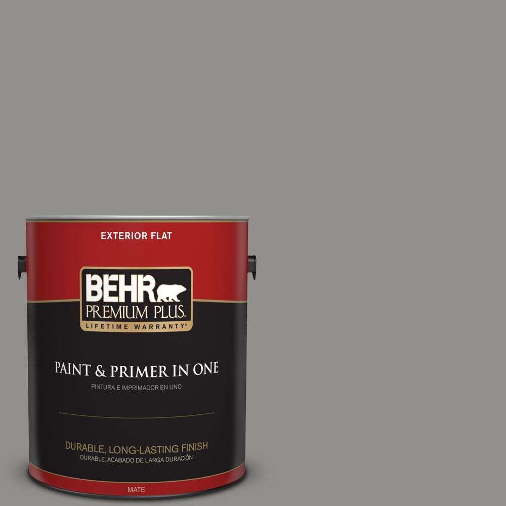 BEHR Premium Plus Home Decorators Collection 1-gal. #HDC-AC-19 Grant Gray Flat Exterior Paint