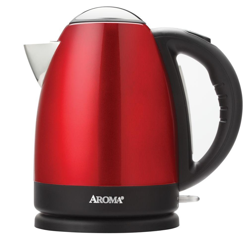 Aroma Housewares 7-Cup Electric Kettle, Red