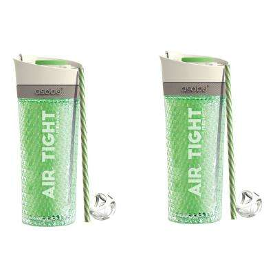 2-Piece Green 15 oz. Pump N Chill Tumbler Set