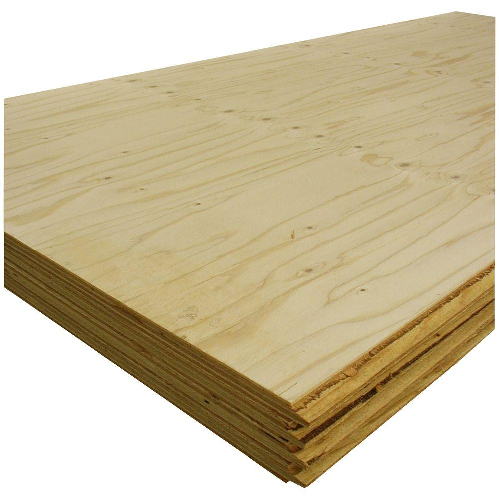 T G Sheathing Plywood Common 1 1 8 In X 4 Ft X 8 Ft Actual