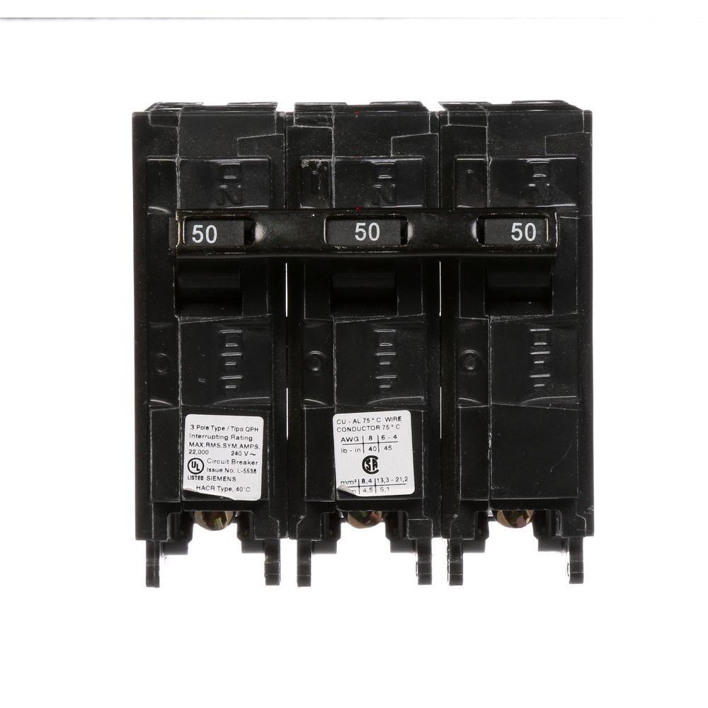 Siemens 50 Amp Double Pole Type Qpf Gfci Circuit Breaker Us2 Qf250ap Befail