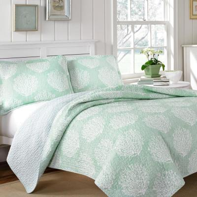 Coral Coast 3-Piece Mist King Quilt Set