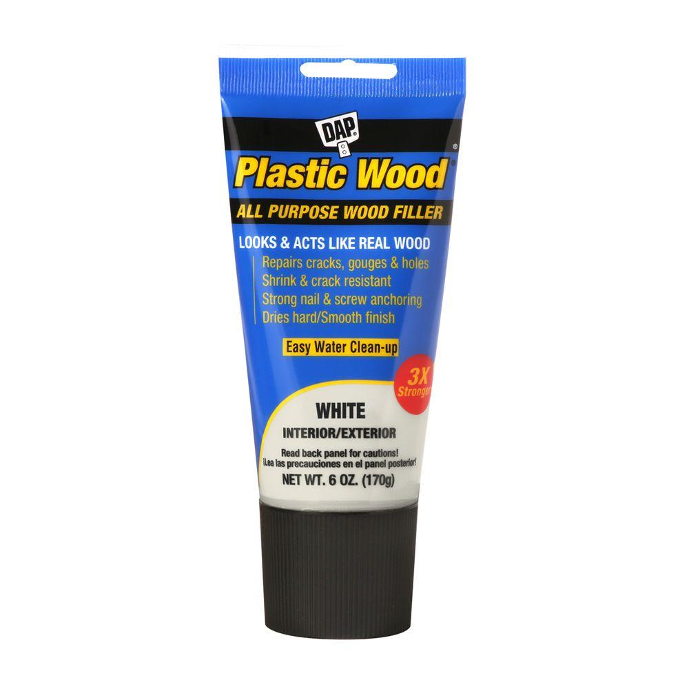 DAP Plastic Wood 6 oz. White Solvent Latex Wood Filler (6-Pack)