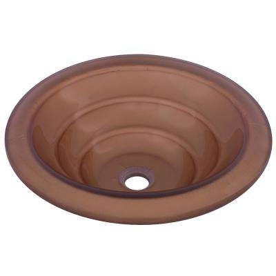 Bronzo Glass Vessel Sink in Bronze