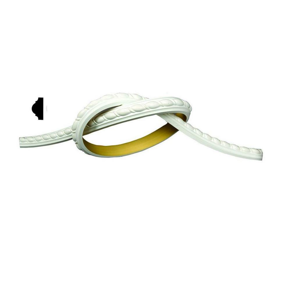 American Pro Decor 1 in. x 5/8 in. x 93 in. Flexible Polyurethane Panel Ribbon Rope Moulding