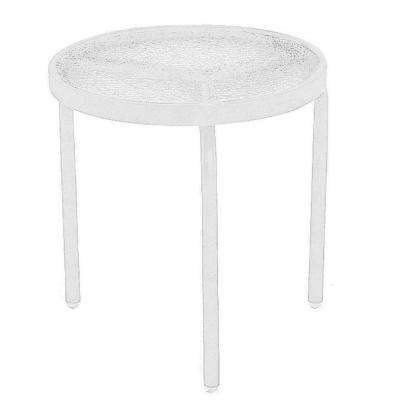 Round white metal patio furniture outdoor side tables patio white acrylic top commercial patio side table watchthetrailerfo