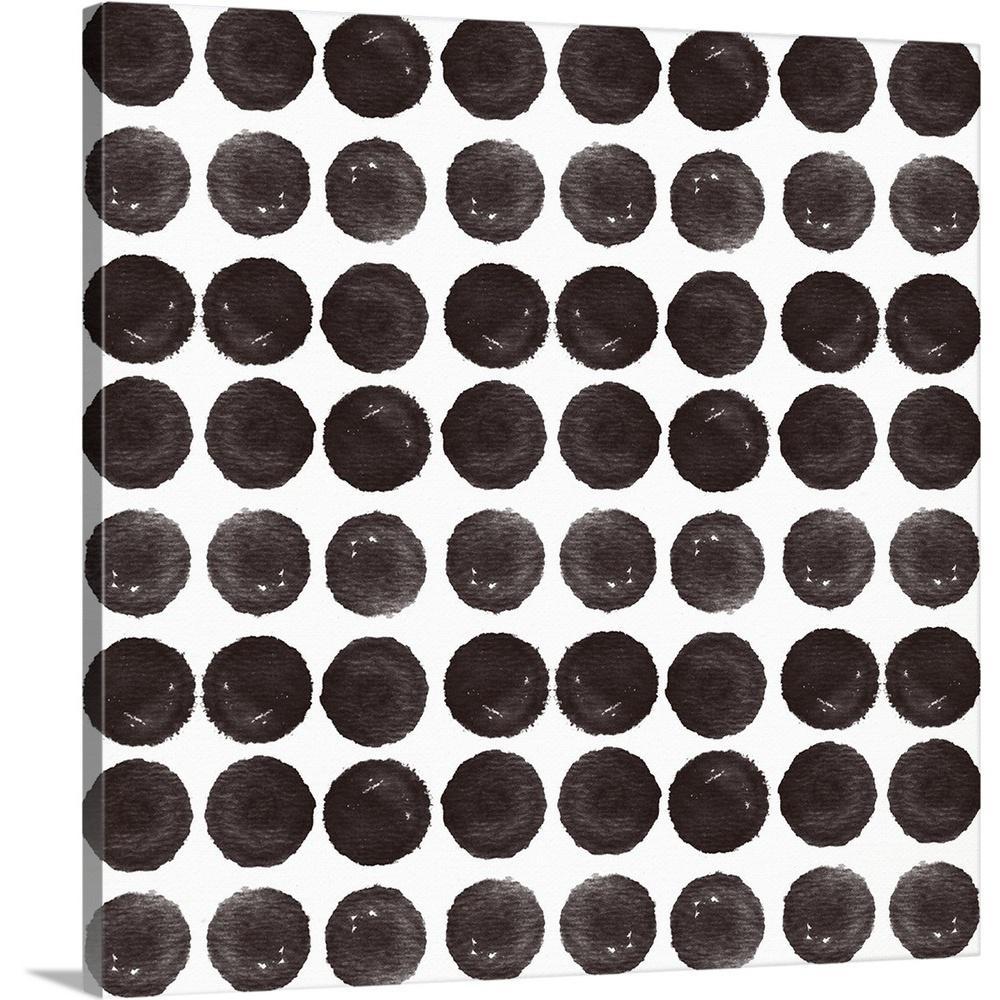 ''Black Circles Pattern'' by Linda Woods Canvas Wall Art