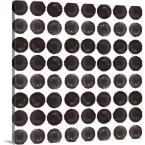 """Black Circles Pattern"" by Linda Woods Canvas Wall Art"