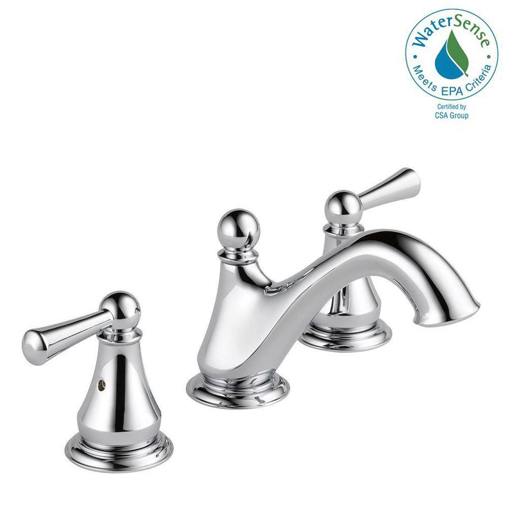 Delta haywood 8 in widespread 2 handle bathroom faucet in - Home depot bathroom shower faucets ...