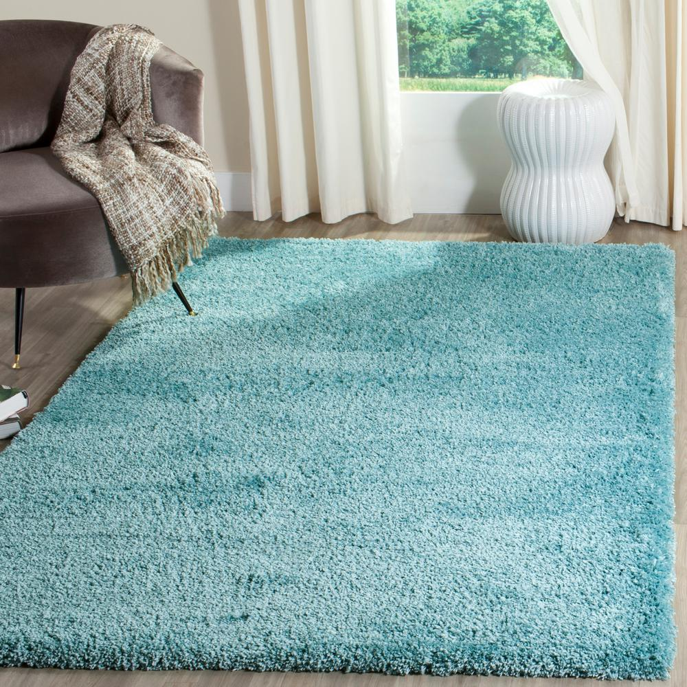 Safavieh Reno Shag Turquoise 6 ft. 7 in. x 9 ft. 2 in. Ar...