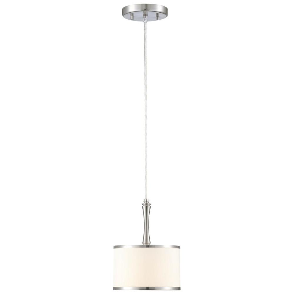 Thomas Lighting Gramercy Park 1-Light Brushed Nickel Pendant-DISCONTINUED