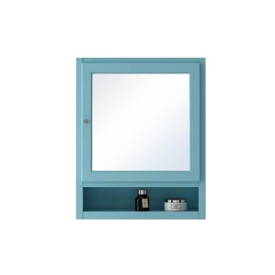 Ridgemore 24 in. W Mirrored 30 in. H x 24 in. W x 6.5 in. D Wall Cabinet in Sea Glass