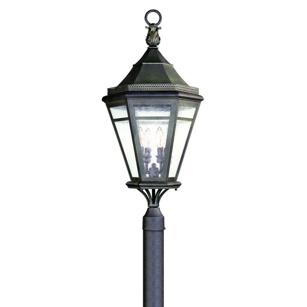 Morgan Hill 4-Light Outdoor Natural Rust Post Light