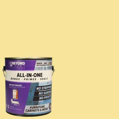 1 gal. Buttercream Furniture, Cabinets and More Multi-Surface All-in-One Refinishing Paint