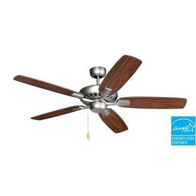 Saturn 52 in. Satin Steel Ceiling Fan