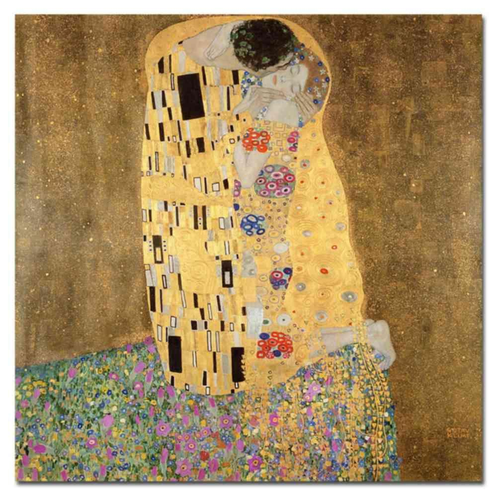 null 35 in. x 35 in. The Kiss Canvas Art