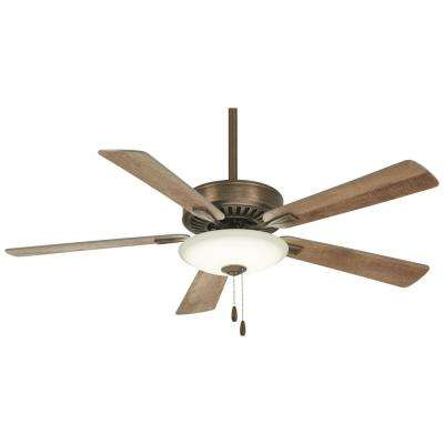 Contractor Uni-Pack 52 in. Integrated LED Indoor Heirloom Bronze Ceiling Fan with Light