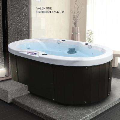 2-Person 20-Jet Valentine Spa Hot Tub with Bluetooth Stereo System, Subwoofer and Backlit LED Waterfall Handrail