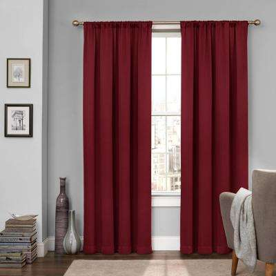 Tricia 95 in. L Polyester Rod Pocket Thermapanel in Sangria (1-Pack)