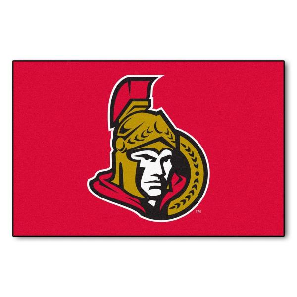 NHL Ottawa Senators Red 1 ft. 7 in. x 2 ft. 6 in. Rectangular Area Rug
