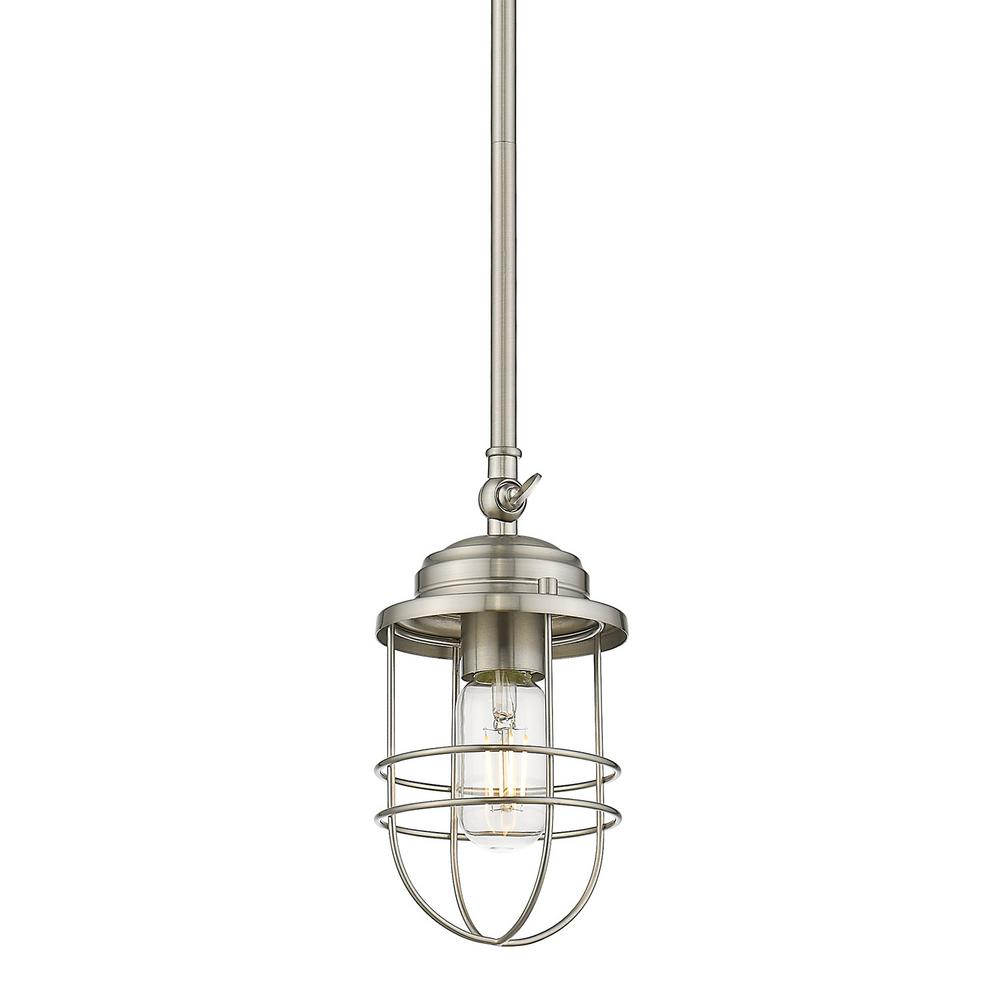 Seaport 1-Light Silver Mini Pendant