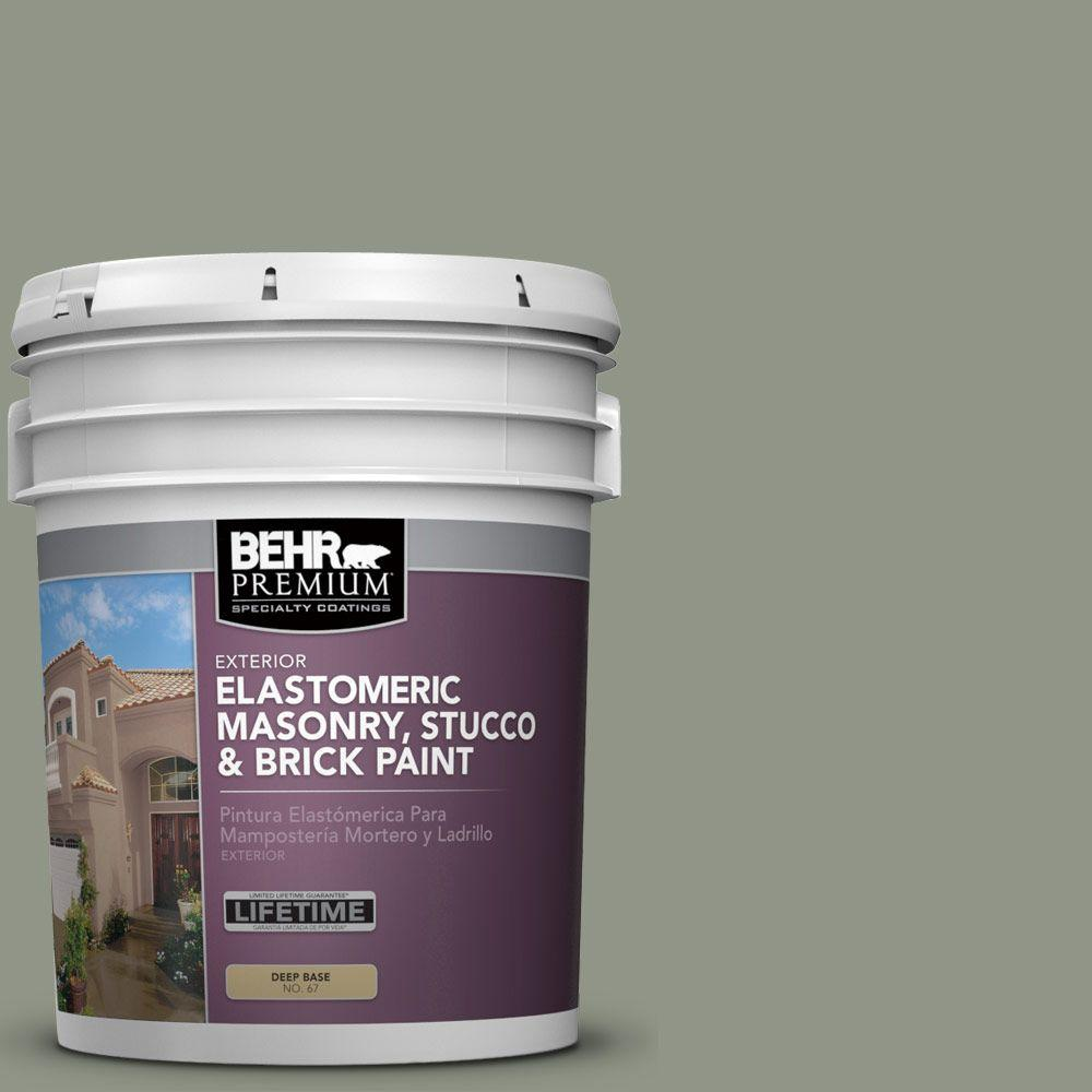 Behr Premium 5 Gal Ms 59 Casting Shadow Elastomeric Masonry Stucco And Brick Paint 06705